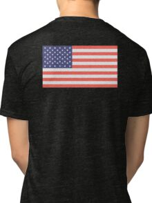 American, Faded Flag, Stars & Stripes, USA, Old Glory, The Star-Spangled Banner, America, Americana, USA, ON BLACK Tri-blend T-Shirt
