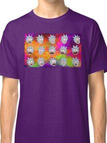 Trippy Psychedelic Rick Sanchez Expressions Classic T-Shirt