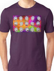 Trippy Psychedelic Rick Sanchez Expressions Unisex T-Shirt