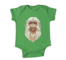 The White Angry Monkey One Piece - Short Sleeve