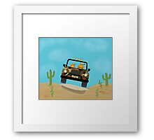 Cats - Camouflage - Off Road Framed Print
