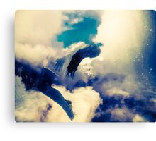 Silhouette Woman Sky Canvas Print