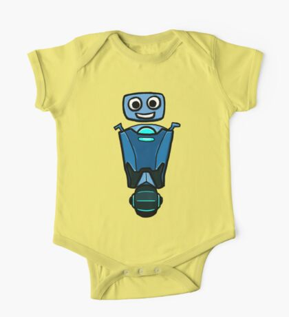 RRDDD Blue Robot One Piece - Short Sleeve