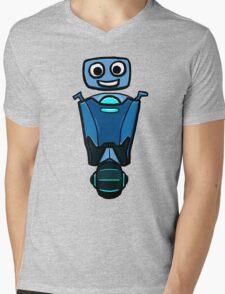 RRDDD Blue Robot Mens V-Neck T-Shirt