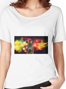 Zebra Bokeh Art Women's Relaxed Fit T-Shirt