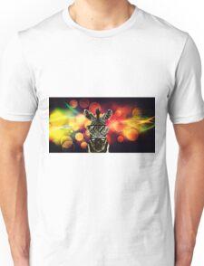 Zebra Bokeh Art Unisex T-Shirt