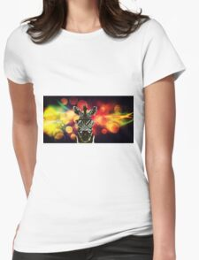 Zebra Bokeh Art Womens Fitted T-Shirt