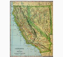 Vintage Map of California and Nevada (1905) Unisex T-Shirt