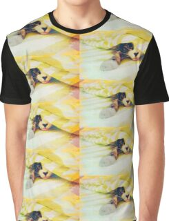 Colorful Cat Graphic T-Shirt