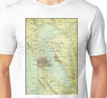Vintage Map of San Francisco California (1905) Unisex T-Shirt