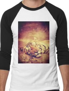 Vintage Tiger Men's Baseball ¾ T-Shirt