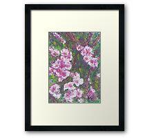 Pink Cascade (pastel) Framed Print