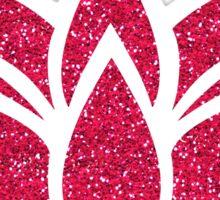 Pink Glitter Lotus Flower Sticker