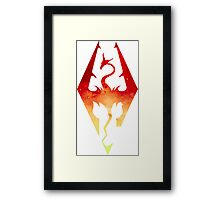 Skyrim Logo - Red Gradient Framed Print