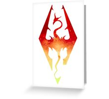 Skyrim Logo - Red Gradient Greeting Card