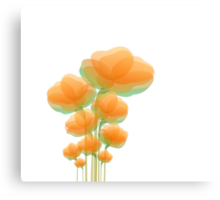 Cool Orange Flowers Canvas Print