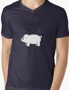 Ice Bear Thinks You're Precious Mens V-Neck T-Shirt