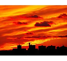Autumn sunset in New York City  Photographic Print