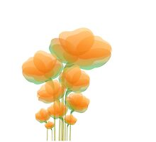 Cool Orange Flowers by vdezine2