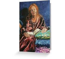 Portrait of Kerry Greenwood.  Elizabeth Moore Golding 2011© Greeting Card