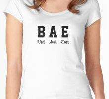 BAE - Best Aunt Ever Women's Fitted Scoop T-Shirt