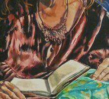 Portrait of Kerry Greenwood.  Elizabeth Moore Golding 2011© Sticker
