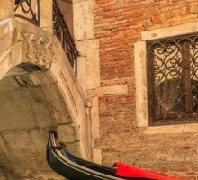 Venice gondola through the arch Sticker