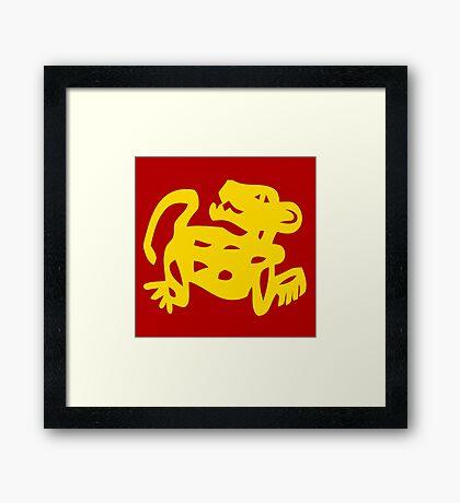 Red Jaguars Legends of the Hidden Temple Shirt Framed Print