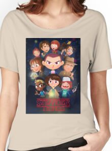 Stranger Things Cartoon Women's Relaxed Fit T-Shirt