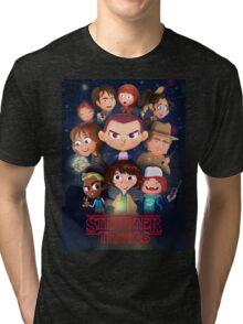 Stranger Things Cartoon Tri-blend T-Shirt