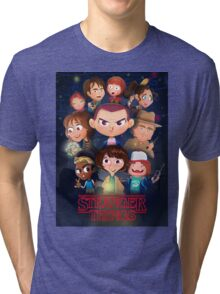 Stranger Things Cartoon Tri-blend T-Shirt