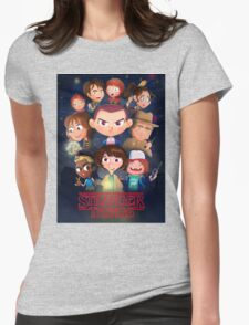 Stranger Things Cartoon Womens Fitted T-Shirt