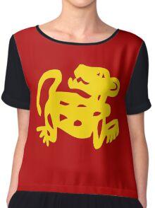 Red Jaguars Legends of the Hidden Temple Shirt Chiffon Top