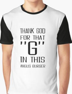 Angus Burger McDonalds Funny Fast Food Junk Food Text Graphic T-Shirt