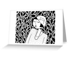 ramona lost in thought Greeting Card