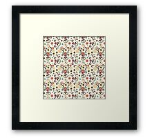 Wired Flower Pattern Framed Print