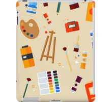 Tools and Materials for Creativity and Painting Seamless Pattern iPad Case/Skin