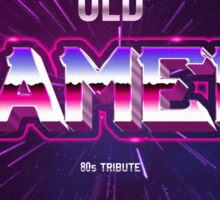 old gamer 80s tribute arcade game Sticker