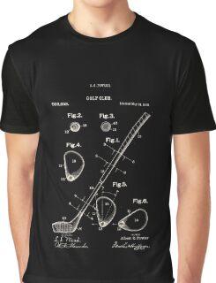 Golf Club Patent 1910 Graphic T-Shirt