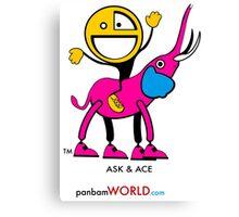 ASK Elephant & ACE Cousin Canvas Print