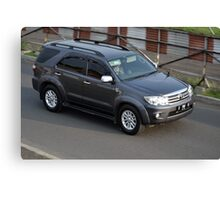grey colored toyota fortuner Canvas Print