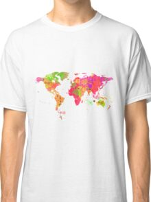 World Map in Watercolor Classic T-Shirt