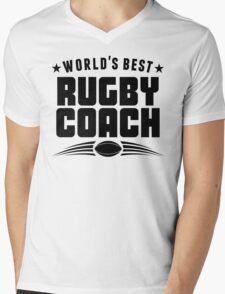 World's Best Rugby Coach Mens V-Neck T-Shirt