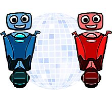 RRDDD Red and Blue Disco Photographic Print