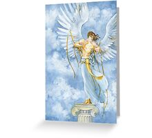 The Angel with Bells On Greeting Card