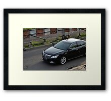 black colored toyota camry Framed Print