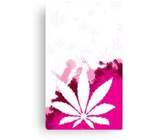 Pink Cannabis Canvas Print