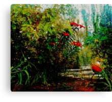 The Tale of the Basketball in the Garden Canvas Print