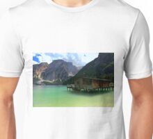 The boats house on Lake Braies Unisex T-Shirt