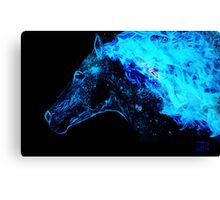 Blue fire horse spirit Canvas Print